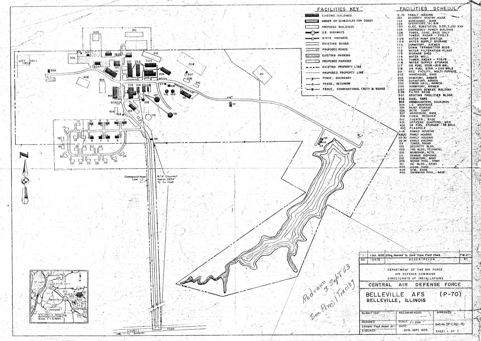 Belleville AFS, IL Site Map